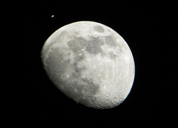 Moon and ISS
